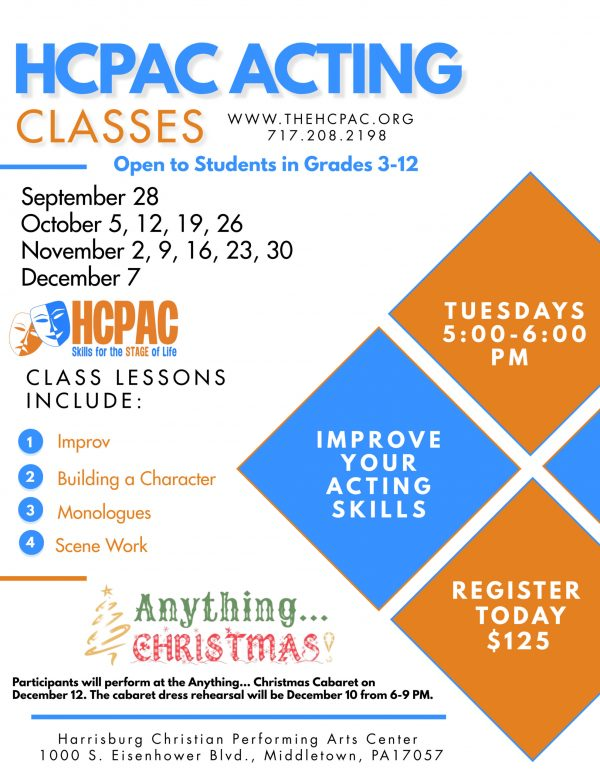 FALL HCPAC ACTING CLASSES Updated
